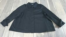 Norma Kamali Shirt Size 18 Womens Black Hidden Button Up (C13)
