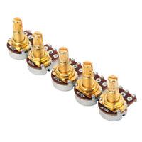 5Pcs Short Shaft Pots A500K Potentiometers for Guitar Bass Audio Tone Volume