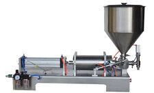 110V Liquid&Cream Filling Machine 1000-5000ml Larger Pump 50L Hopper