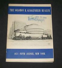 Guggenheim Museum Guidebook Frank Lloyd Wright Braun et Cie Plates Brancusi Klee