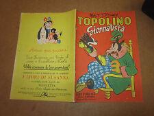 WALT DISNEY ALBO D'ORO N°4 TOPOLINO GIORNALISTA 31-05-1950 1°RISTAMPA