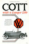 1919 Vtg Orig WESTCOTT Two-Passenger ROADSTER 2-Page 2-COLOR Ad. Springfield OH