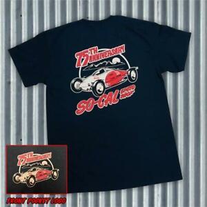 So-Cal Speedshop t-shirt black 75th anniversary size XXXL rear print hot rod