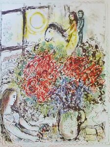 MARC CHAGALL Pace/Columbus 1974 Le Chevauchee signed LITHOGRAPH Poster