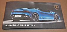 Lamborghini Huracán LP 610-4 Spyder IAA 2013 Pressemappe Launch Media Kit Karte