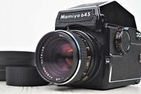 {NMint} MAMIYA M645 Sekor C 80mm f/2.8 Prism Finder Strap Lens Hood From Japan