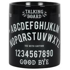 Spirito Ouija Board in ceramica Shiny Black White TAZZA occulto Strega Halloween