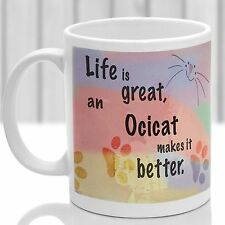 Ocicat cat mug, Ocicat cat gift, ideal present for cat lover