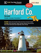 Harford Co MD ADC Street Atlas Laminated (Rare)