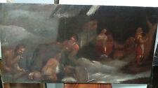 """Peinture ancienne """" Scène religieuse"""".Old painting """" religious scene"""" 18èmes"""