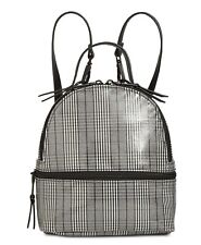 Steve Madden Women's Plaid Mini Gray Faux Leather Backpack