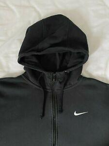 Mens Nike Hoodie Size XXL / 2XL in Black Full Zip Long Sleeve Fleece Pockets