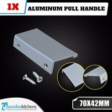 1x ALUMINUM 70x42mm KITCHEN CABINET CUPBOARD DRAWER PULL HANDLE