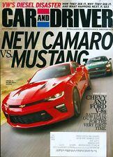2015 Car & Driver Magazine: New Camaro vs Mustang/Chevy & Ford V-8s/VW's Diesel