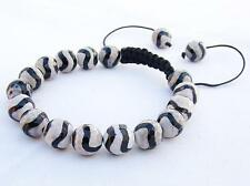 Men's Shamballa bracelet all 10mm Natural Tibetan Agate Dzi STONE beads