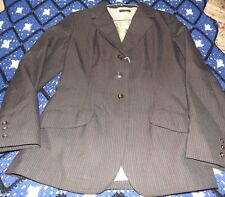 Used Ladies Equestrian Riding Jacket sz 12R Gray Pin Stripe