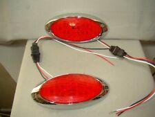 oval LED tail lights flush mount LED tail lights teardrop trailer tail lights