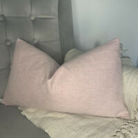 Decorative Cushion Cover John Lewis & Partners Fabric , Plain Light Pink