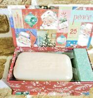 PUNCH STUDIO CHRISTMAS 4 OZ. Cranberry BAR SOAP KEEPSAKE MUSICAL BOX,  Santa