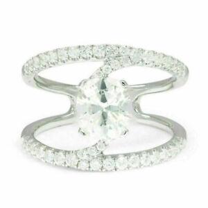 18K White Gold 1.89ct G SI1 Round Diamond Free Form Engagement Ring