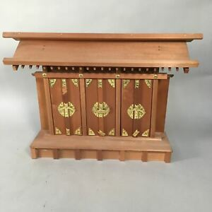 Japanese Wooden Shinto Home Shrine Vtg Kamidana God Shelf KD8