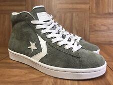 29516bce1a7688 RARE🔥 Converse Pro Leather Olive Green Sz 9 Men s Shoes Dr. J Byrd White