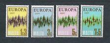 EUROPA CEPT -  MALTA - 1972 YT 452 à 455 - TIMBRES NEUFS** MNH LUXE