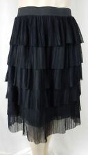 NEW Sexy City Chic Black Pleated Tiered Ballet Beauty Skirt Plus Size XS 14 1140