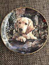 "The Danbury Mint- Collectors Plate #A5907 ""Golden Companions� A Golden Welcome"