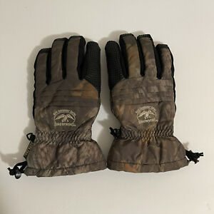 Browning Duck Commander Series Gore-Tex Primaloft Mossy Oak Gloves Size Medium