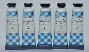 5 BATH & BODY WORKS BLUE GINGHAM HAND CREAM LOTION SHEA BUTTER TRAVEL SIZE 1 OZ