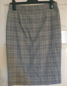 BNWT M&S Grey Mix Check Skirt Size 10