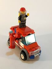 Lego City Fire Truck Engine with Mini Figure Fire Fighter + Extinguisher