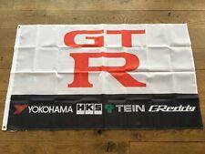 Nissan Skyline R32 R33 R34 R35 GTR Nismo garage workshop flag banner