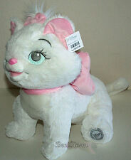 """NEW Disney Store 12"""" The Aristocats Marie Plush Doll Soft White Cat W/ Pink Bow"""