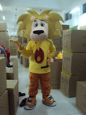 New yellow lion Mascot Costume Fancy Dress Adult Suit Size R63