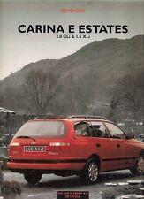 Toyota Carina E Estate 1993 UK Market Foldout Sales Brochure 1.6 XLi 2.0 GLi