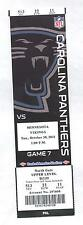 Minnesota Vikings Carolina Panthers 10/30/11 Full Unused Football Game Ticket