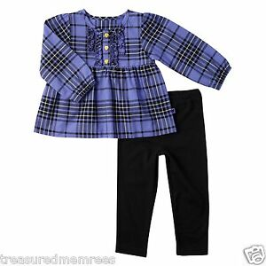 Carter's 2 Piece Pants & Long Sleeve Ruffled Top Set ~ Size 3 Months ~ NWT