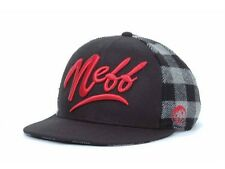 Neff Skateboarding Brawney Snap Snapback Wool Blend Red Logo Ball Hat Cap NWT
