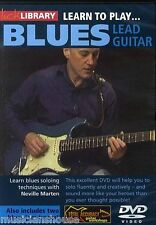 LICK LIBRARY LEARN TO PLAY BLUES LEAD GUITAR Tutor Scales Solos Lesson Jam DVD