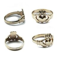 Irish Claddagh Signet Rings NEW 9ct Solid Yellow Gold Bespoke UK Hallmarked Ring