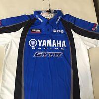 Men's Yamaha Trackside Pit Racing Shirt L or XL (Yamaha # CRP-12PRC-BL)