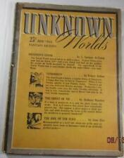 UNKNOWN WORLDS PULP JUNE 1942 ANTHONY BOUCHER L SPRAGUE DE CAMP FRANK B LONG
