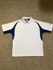 Reebok Dri-fit Polo. White With Blue. Large