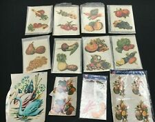 Job Lot Vintage Presto Decal Transfers Shabby Chic Fruit Vegetable China Glass