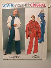 Vogue Paris Original GALITZINE 1603 Jumpsuit Jacket Sailor Collar Size 16 UNCUT