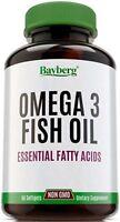 Omega 3 1000mg + EPA & DHA. Fish Oil Essential Fatty Acids 60 Softgels Sealed!!
