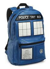 DOCTOR WHO TARDIS FAUX LEATHER DELUXE BACKPACK BAG AUTHENTIC *NEW* RARE SALE
