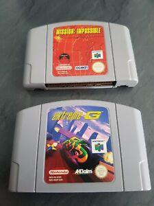 Lot 2 jeux : mission impossible FRA PAL et extrem-g PAL nintendo 64 N64